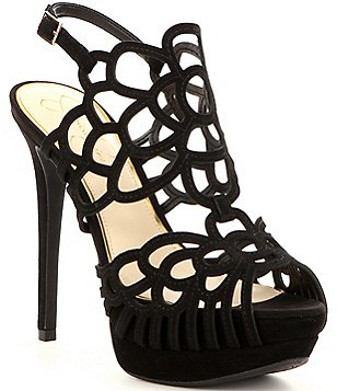 Jessica Simpson Weslynn Caged Back Strap Platform Dress Sandals