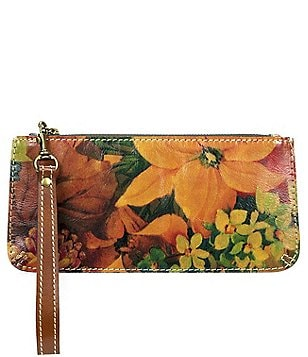 Patricia Nash Heritage Print Collection St. Croce Floral Wristlet