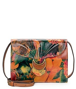 Patricia Nash Heritage Print Collection Van Sannio Floral Buckled Cross-Body Bag