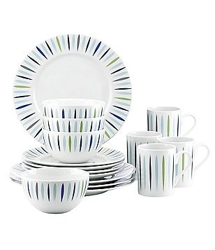 Dansk The Burbs Starburst 16-Piece Dinnerware Set