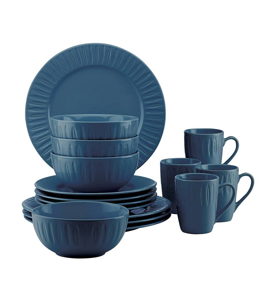 Dansk The Burbs Carved 16-Piece Dinnerware Set