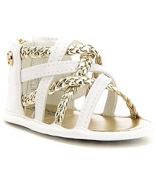 MICHAEL Michael Kors Girl´s Baby Amy Metallic Braided Crib Sandals