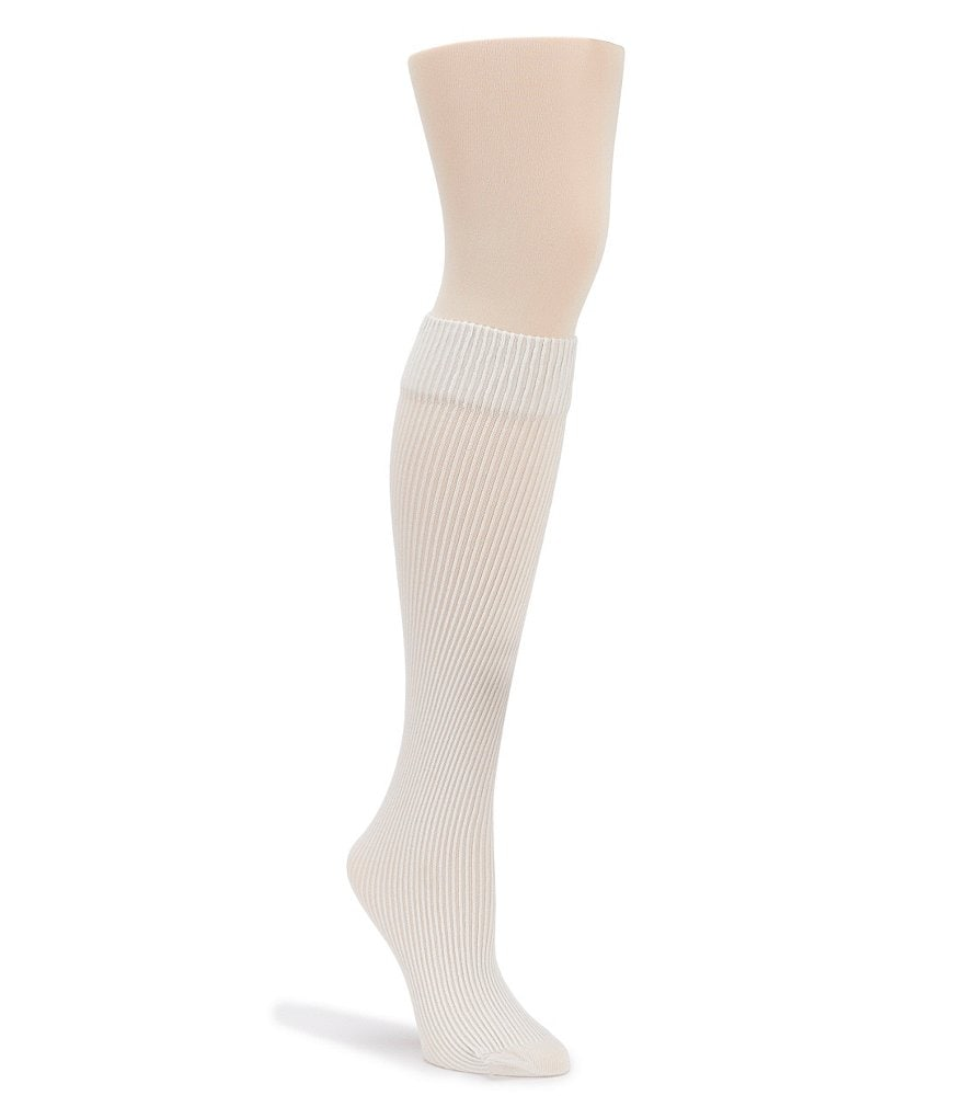 HUE Opaque Ribbed Boot Tights