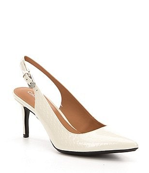 Calvin Klein Giovanna Pointed Toe Sling Back Pumps