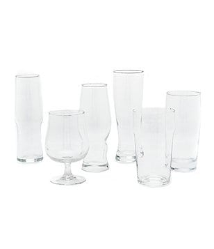 Noble Excellence 6-Piece Beer Glass Set with Coasters