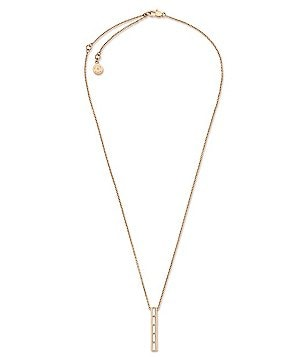 Michael Kors Black Tie Affair Baguette Crystal Barrel Pendant Necklace
