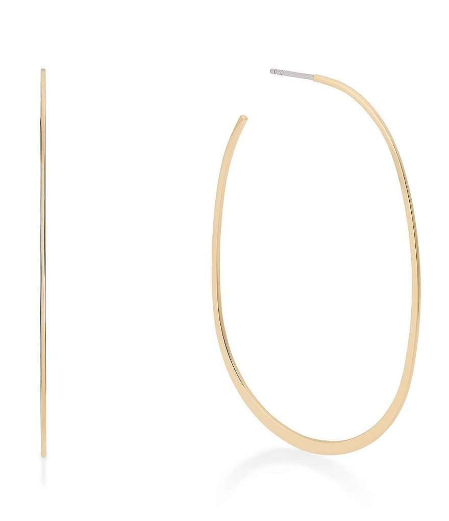 Michael Kors Brilliance Slim Hoop Earrings