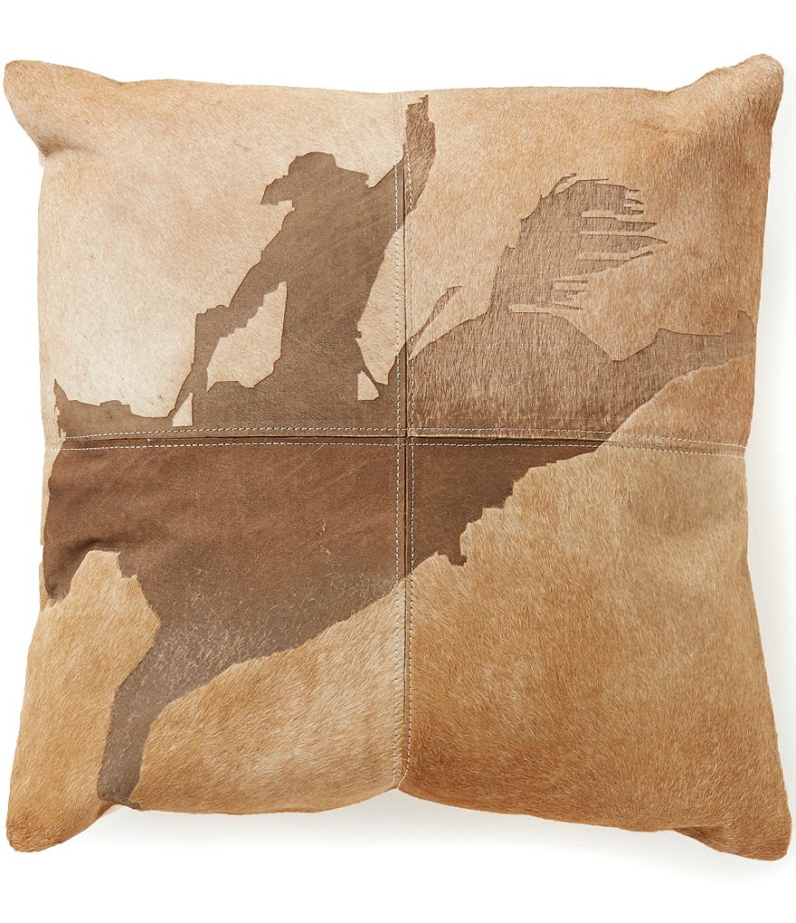 Mina Victory by Nourison Dallas Rodeo Cowboy Haircalf Throw Pillow