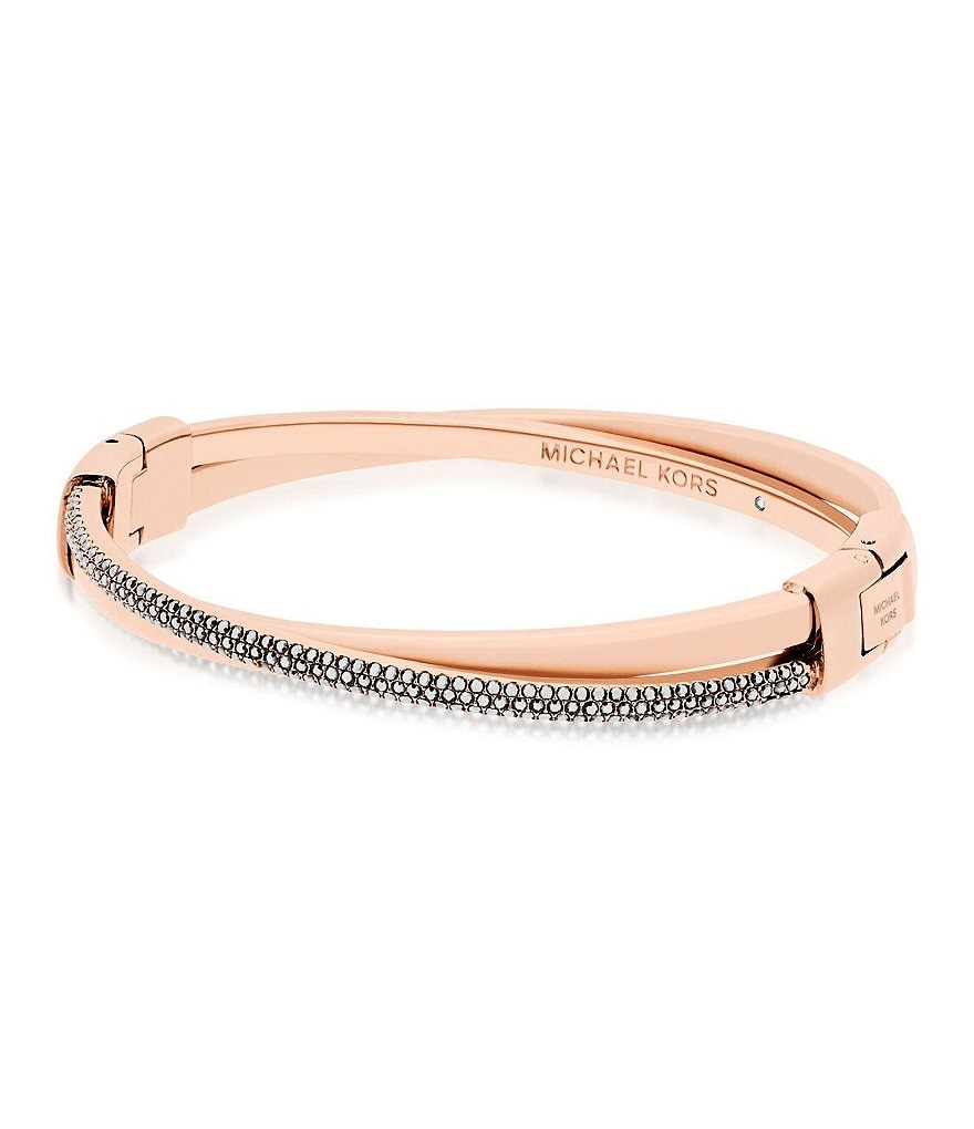 Michael Kors Color Rush Pavé Crisscross Hinge Bangle Bracelet