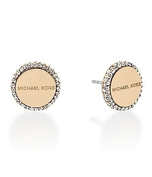 Michael Kors Pavé Halo Disc Stud Earrings
