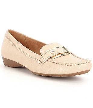 Naturalizer Gisella Metallic Detailing Slip On Loafers