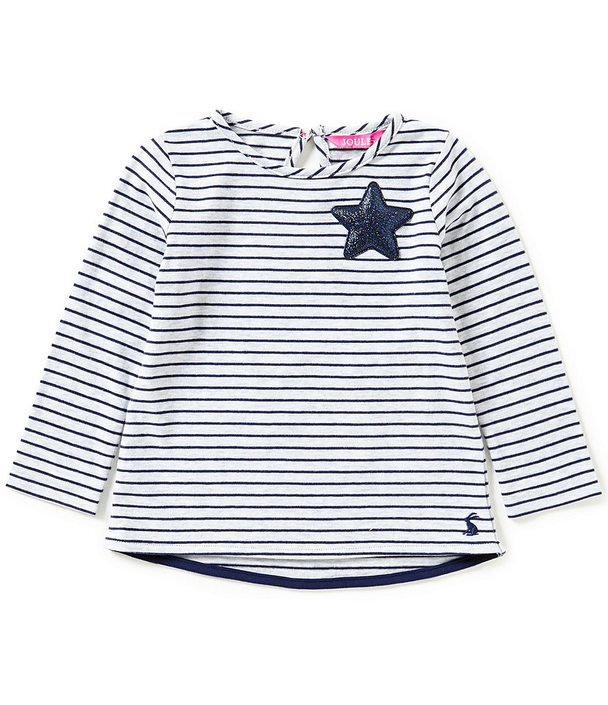 Joules Baby/Little Girls 12 Months-3T Dora Striped Glitter-Star Shirt