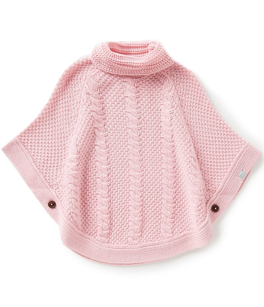 Joules Little Girls 3-6 Tessa Turtleneck Cable-Knit Cape