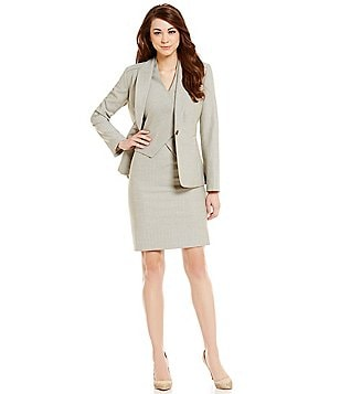 Antonio Melani Zoe Herringbone Jacket & Emeli Herringbone Dress