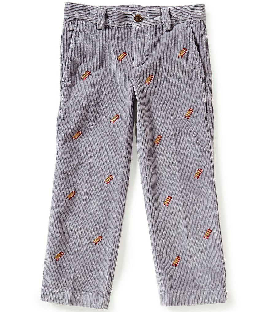 Brooks Brothers Little/Big Boys 4-20 Sled Embroidered Corduroy Pants