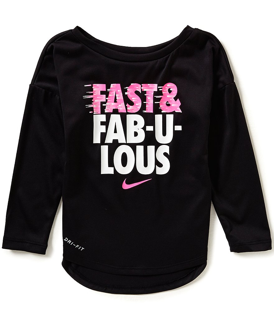 Nike Little Girls 2T-6X Fast & Fabulous Long-Sleeve Tee
