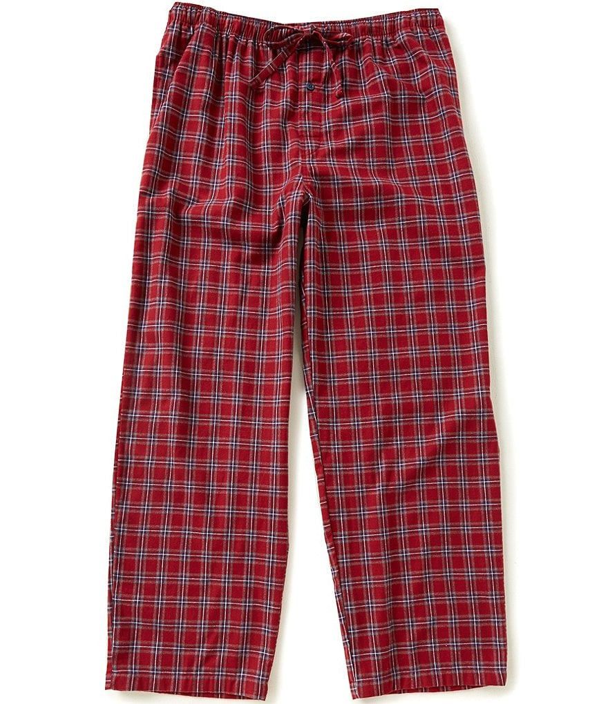 Roundtree & Yorke Big & Tall Plaid Flannel Pajama Pants