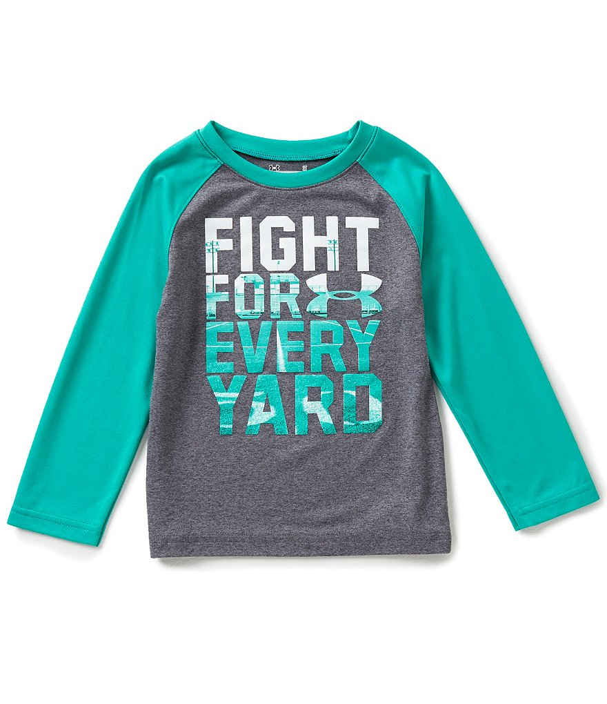 Under Armour Little Boys 2T-7 Fight For Every Yard Raglan-Sleeve Graphic Tee