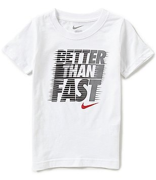 Nike Little Boys 2T-7 Better Than Fast Short Sleeve Graphic Tee