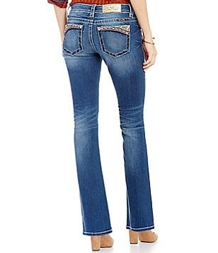 Miss Me Low-Rise Embellished Bootcut Jeans