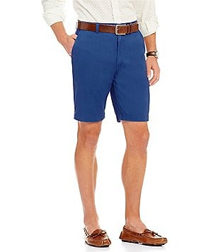 Roundtree & Yorke Flat Front Washed Cotton Shorts