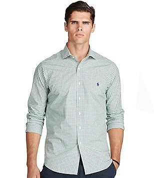 Polo Ralph Lauren Big & Tall Plaid Cotton Poplin Long-Sleeve Woven Shirt
