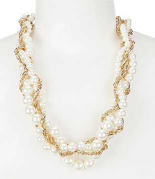 Dillard´s Tailored Pearl Chain Torsade Necklace