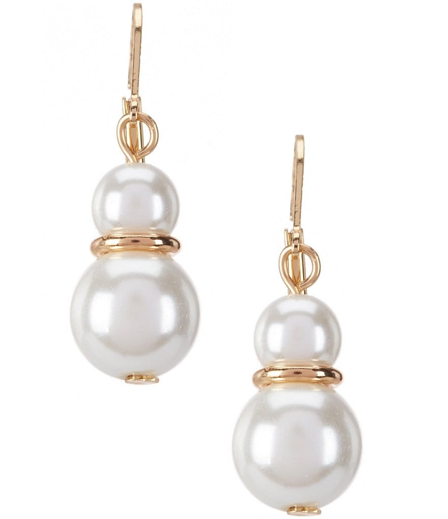 dillard 180 s tailored faux pearl drop earrings dillards
