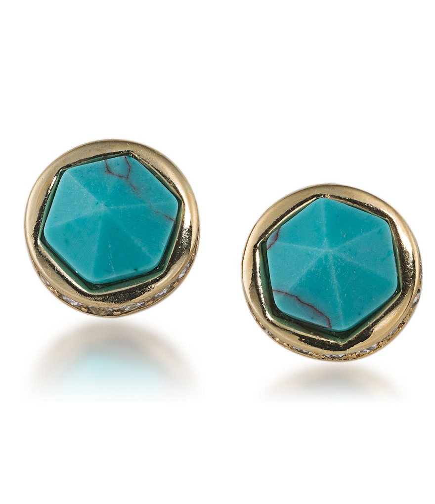 Lauren Ralph Lauren Match Point Turquoise Stud Earrings