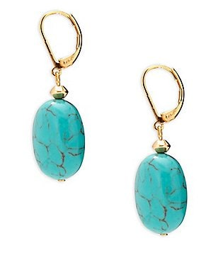 Lauren Ralph Lauren Turquoise Stone Drop Earrings