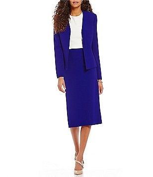 Preston & York Phoebe Textured Suiting Jacket & Taylor Crepe Pencil Skirt