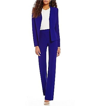 Preston & York Phoebe Textured Suiting Jacket & York Slim Leg Pant