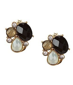 Anne Klein Aventura Cluster Stud Clip-On Earrings