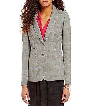 Cremieux Ruby Twill Fitted Peak Lapel Blazer