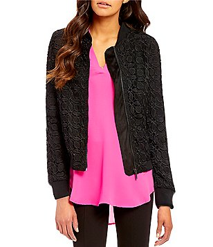 Gibson & Latimer Front Zip Lace Bomber Jacket