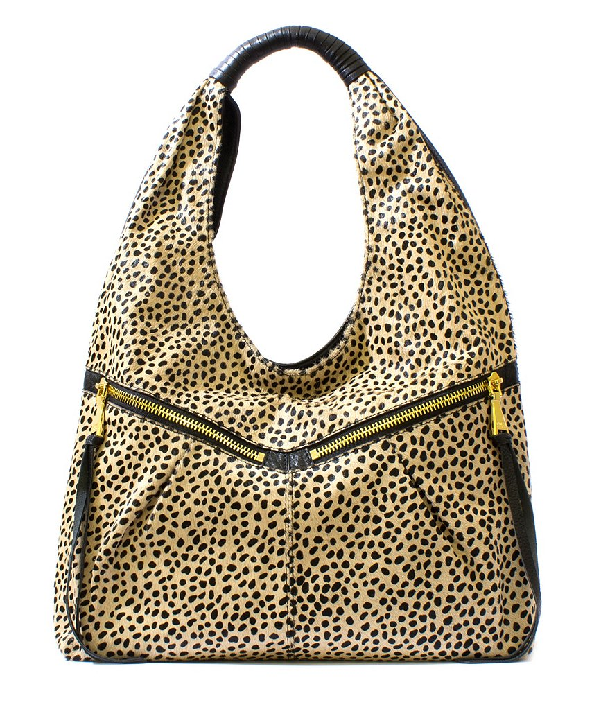 Aimee Kestenberg Gia Cheetah-Print Haircalf Hobo Bag