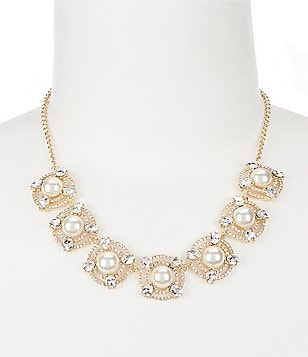 Gemma Layne Faux-Pearl Orbitals Necklace