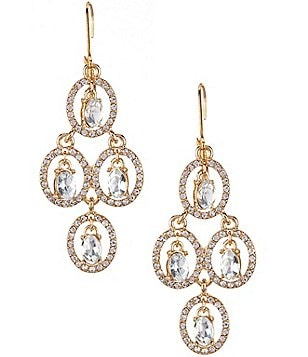 Gemma Layne Oval Link Chandelier Earrings