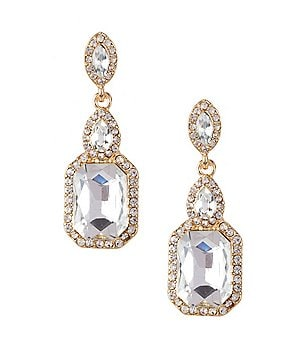 Gemma Layne Square Drop Earrings