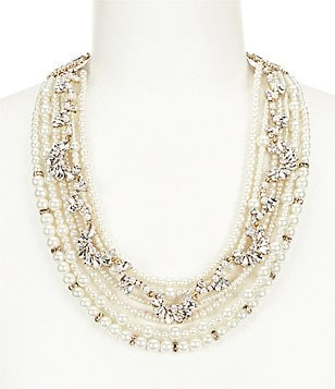 Belle Badgley Mischka Pearl Torsade Collar Necklace