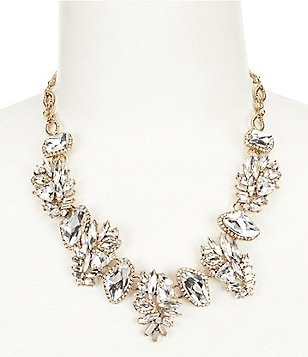 Belle Badgley Mischka Abstract Rhinestone Collar Necklace