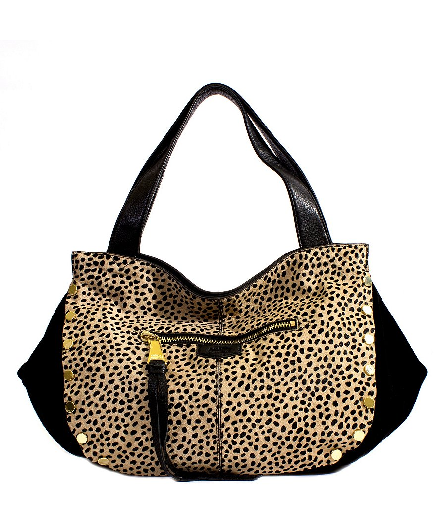 Aimee Kestenberg Pearl Cheetah-Print Haircalf Convertible Shopper