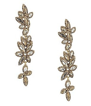 Belle Badgley Mischka Rhinestone Chandelier Earrings