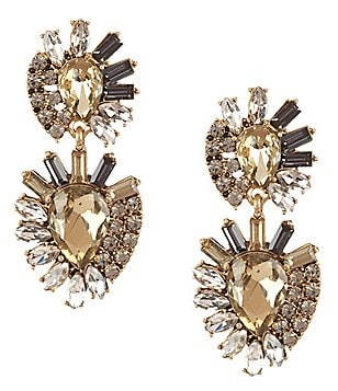 Belle Badgley Mischka Abstract Rhinestone Chandelier Earrings