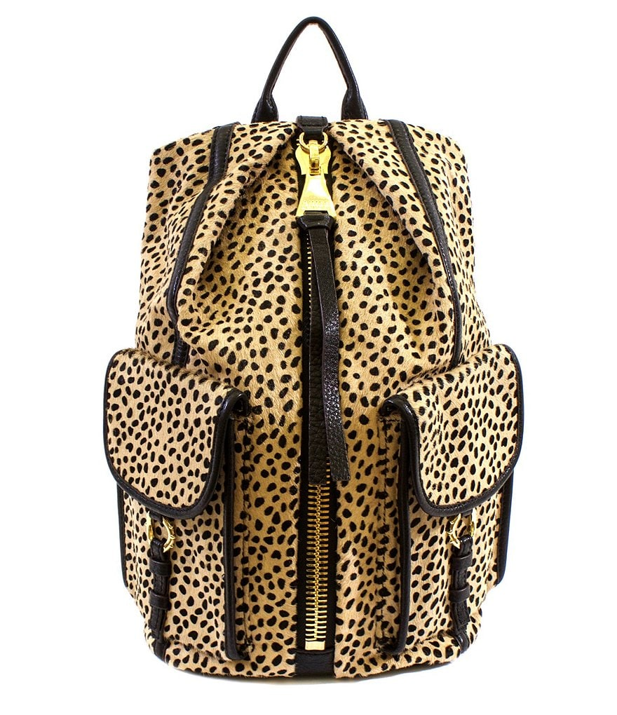 Aimee Kestenberg Tamitha Cheetah-Print Haircalf Cargo Backpack