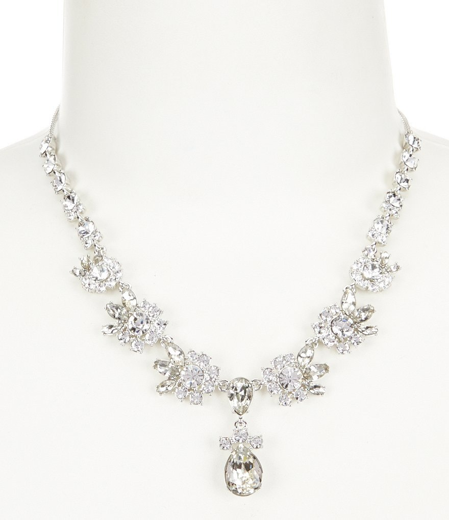 Givenchy Worth Crystal Frontal Necklace