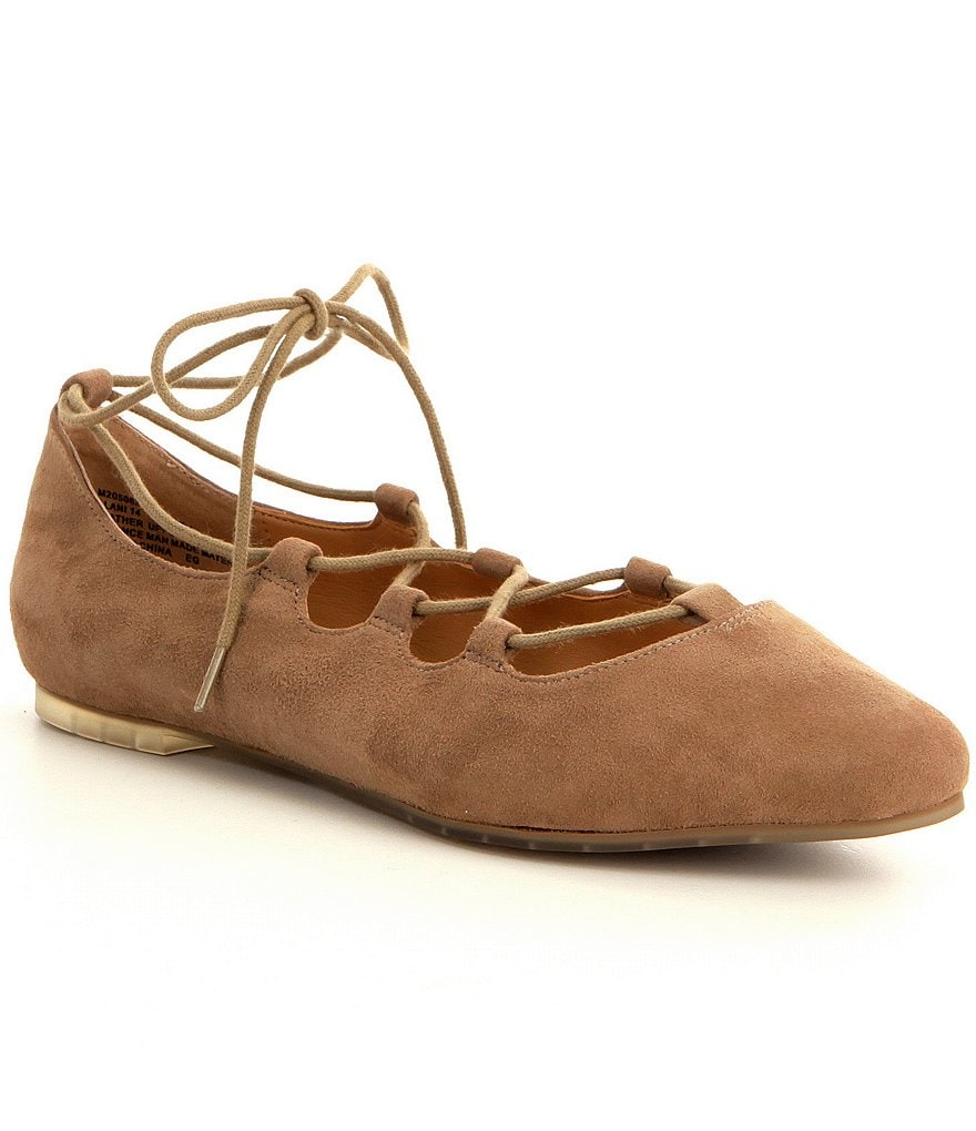 Me Too Alani Suede Lace Up Ghillie Flats