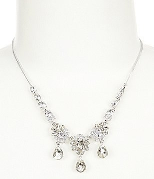 Givenchy Worth Crystal Teardrop Frontal Necklace