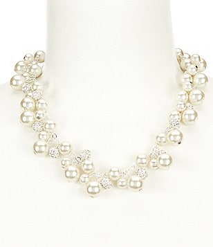 Cezanne Fireball & Pearl Shaky Collar Necklace