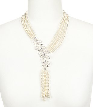 Cezanne Flowing Leaves Pearl Statement Necklace